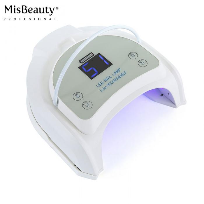Signature Professional Cordless 64w UV LED Gel Lamp for Nail Salon - White